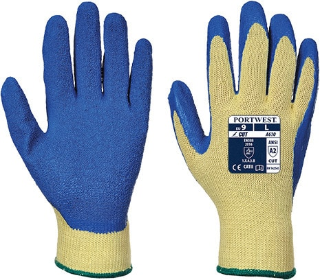 Portwest A610 - Cut Latex Grip Glove