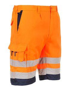 Portwest E043 - Hi-Vis P/C Shorts