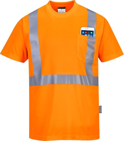 Portwest S190 - Hi-Vis Pocket T-Shirt