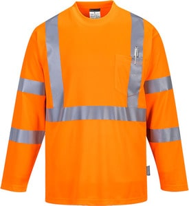Portwest S191 - Hi-Vis Long Sleeved T-Shirt