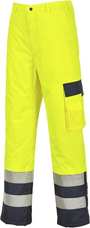 Portwest S686 - Hi-Vis Lined Contrast Trousers
