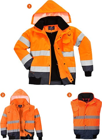 Portwest UC465 - 3in1 Bomber Jacket