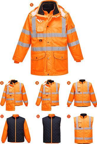Portwest URT27 - Hi-Vis 7in1 Jacket