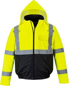 Portwest US363 - Hi-Vis Two-Tone Bomber Jacket