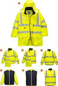 Portwest US427 - Hi-Vis 7in1 Jacket