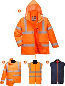 Portwest US468 - Hi-Vis 4in1 Jacket