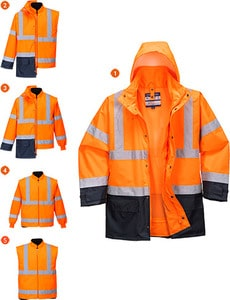 Portwest US768 - 5in1 Hi-Vis Executive Jacket