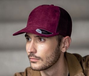 ATLANTIS AT196 - Casquette style trucker en faux daim