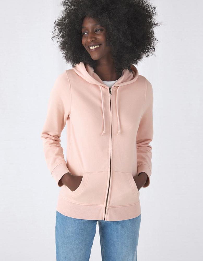 B&C BCW36B - Women's Organic Zipped Hoodie