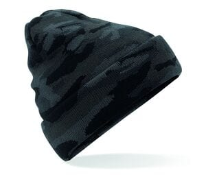 Beechfield BF419 - Beanie with camouflage lapel