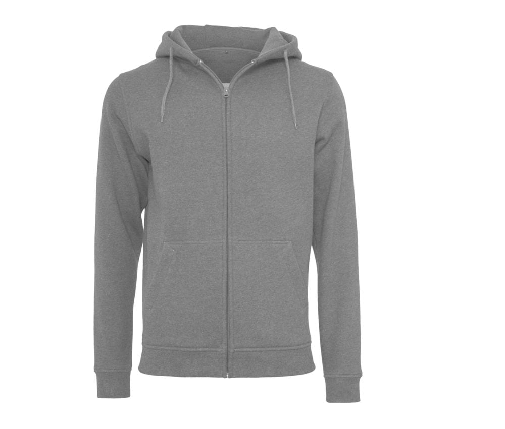 Build Your Brand BY012 - zipped hooded sweatshirt heavy