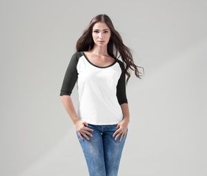 Build Your Brand BY022 - Damen 3/4-Arm Baseball-Shirt
