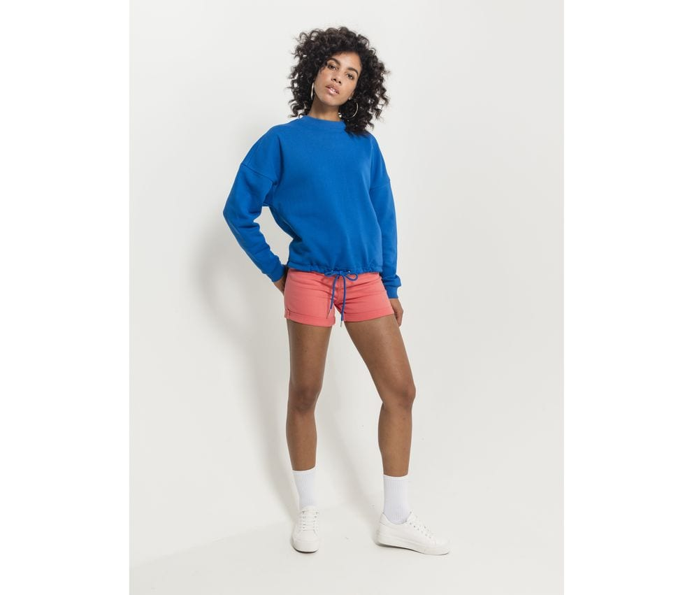 Build Your Brand BY058 - Round woman Sweat oversized collar