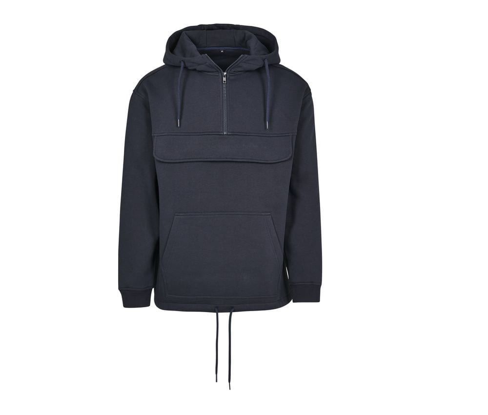 Build Your Brand BY098 - Hooded man Hooded zip neck