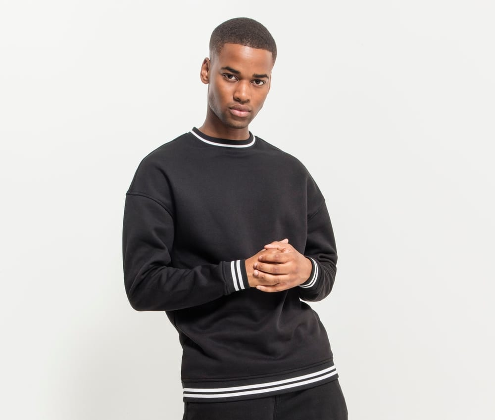 Build Your Brand BY104 - Sweat contrasting stripes