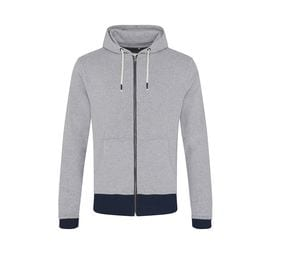 ECOLOGIE EA051 - Sweat hooded zip recycled cotton