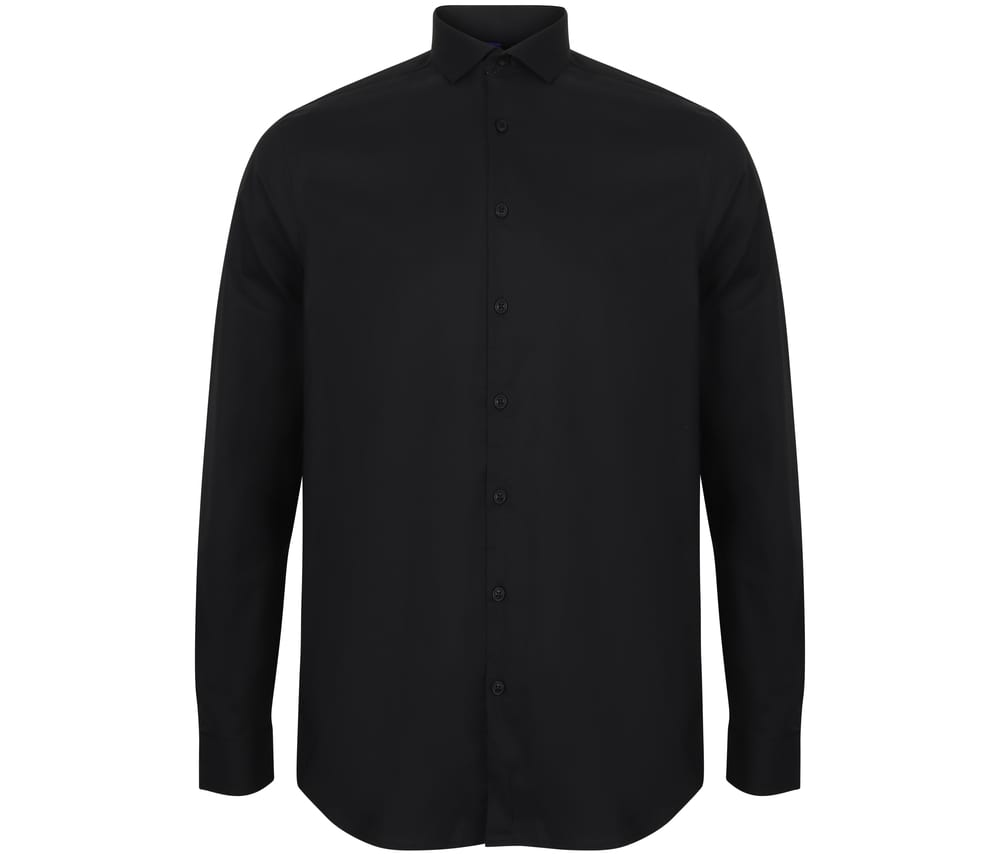 HENBURY HY532 - MEN'S LONG SLEEVED STRETCH SHIRT