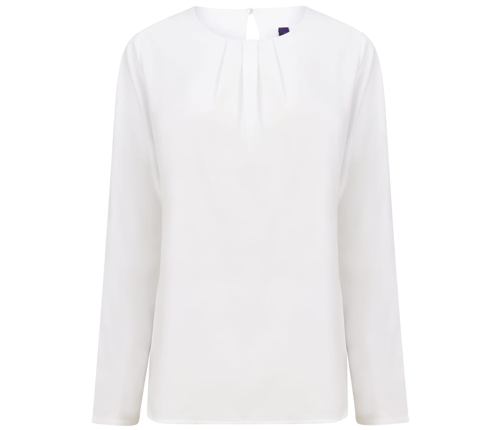Henbury HY598 - Women's Long Sleeve Blouse
