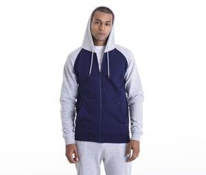 AWDIS JH063 - Baseball sweater met rits