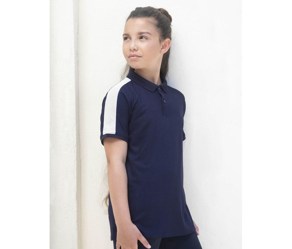 Finden & Hales LV382 - Stretch contrast polo shirt for children
