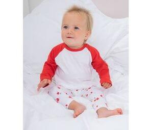 Larkwood LW025 - Camisa baseball mangas largas bebê
