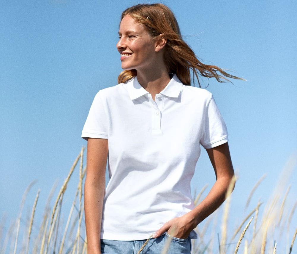 Neutral O22980 - Women's quilted polo shirt