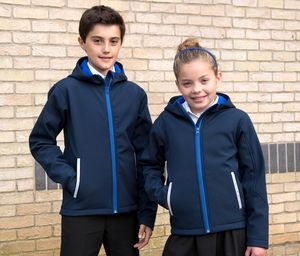 RESULT RS224J - Softshell capuche enfant
