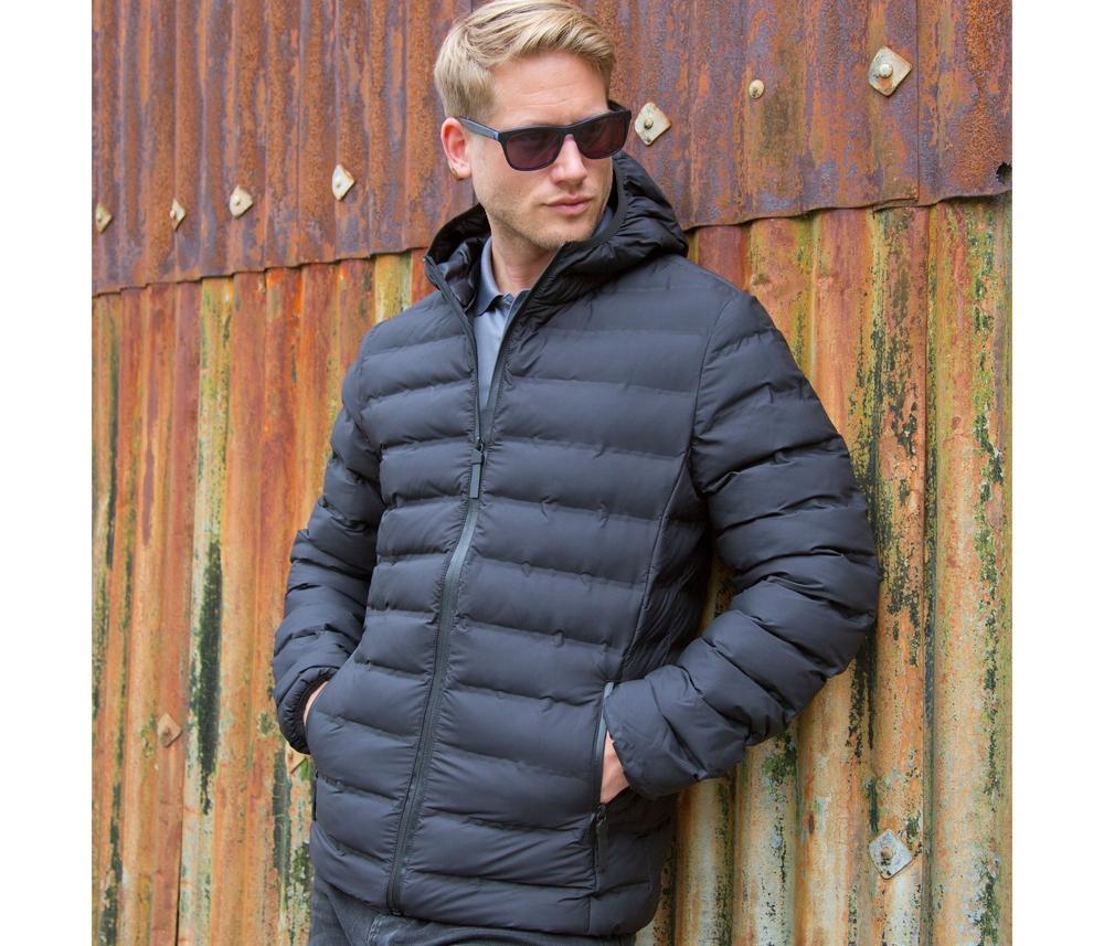 RESULT RS407 - Long manteau matelassé sans couture