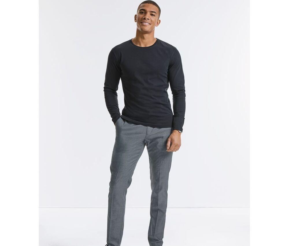 RUSSELL RU100M - Men's Organic Long Sleeve T-Shirt