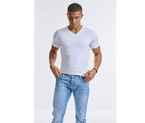 RUSSELL RU103M - Mens organic V-neck T-shirt