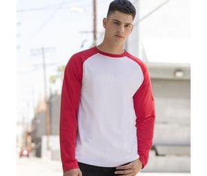 SF Men SF271 - Baseball T-shirt met lange mouwen