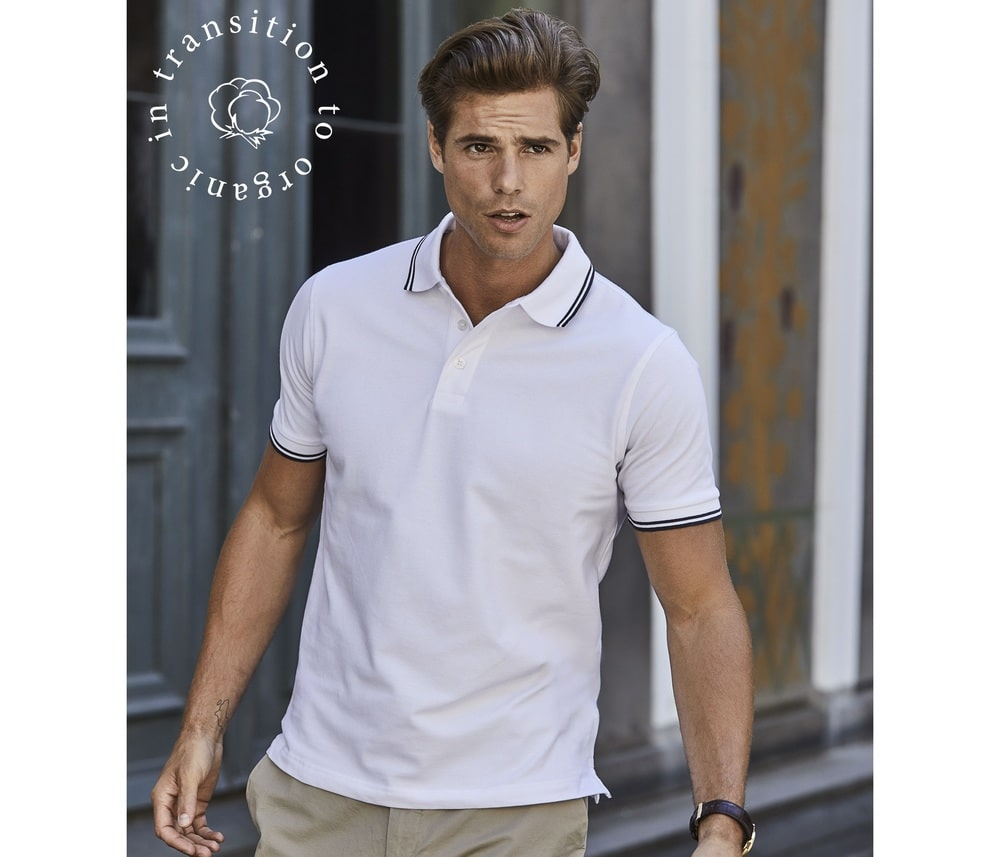 Tee Jays TJ1407 - Mens Luxury stripe stretch polo