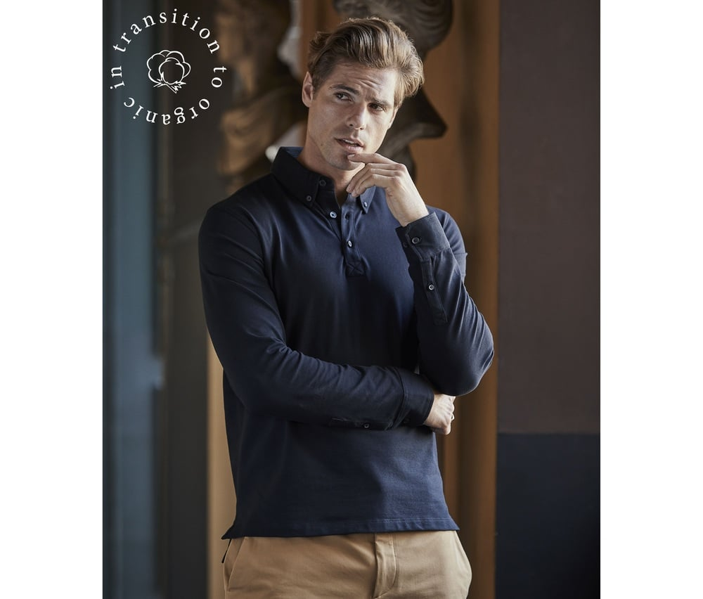 Tee Jays TJ1412 - Fashion long sleeve luxury stretch polo Men