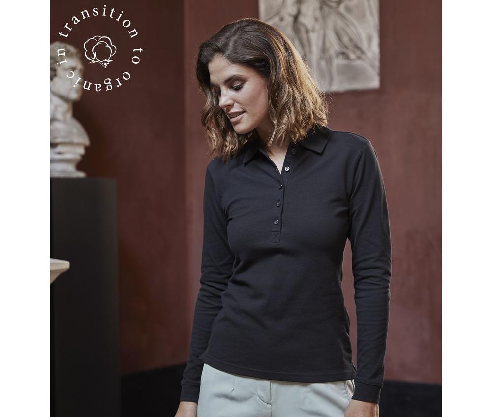 Tee Jays TJ146 - Womens luxury stretch long sleeve polo