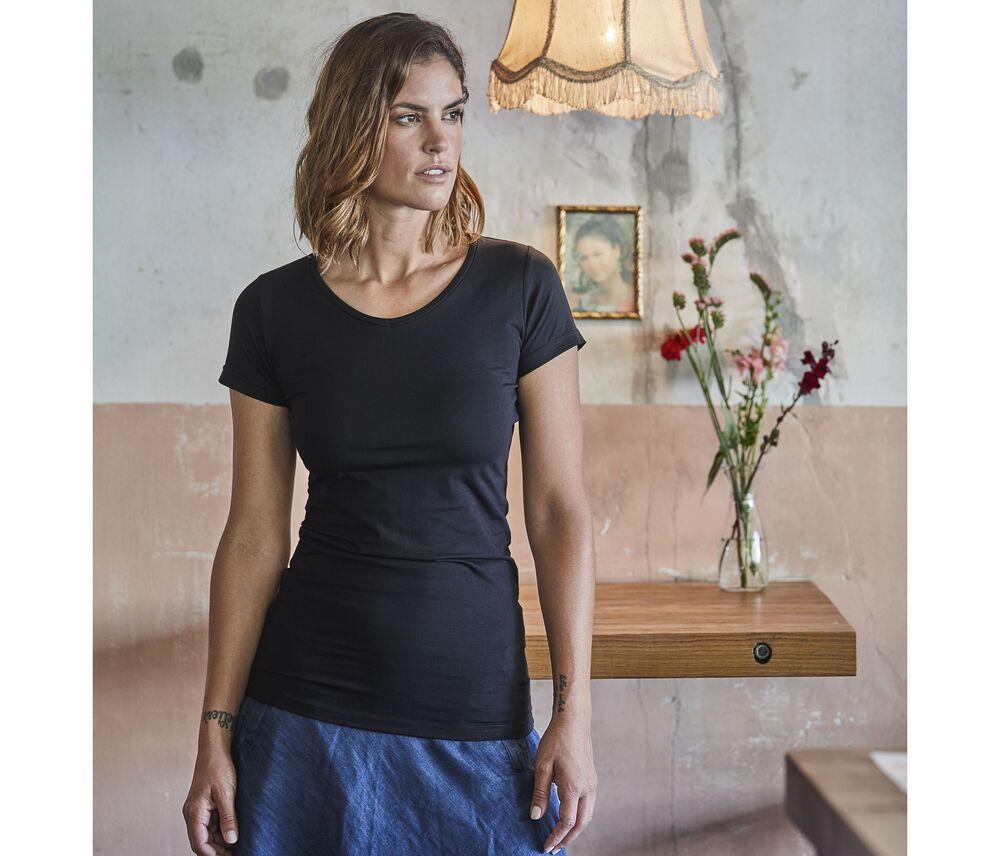 Tee Jays TJ455 - Womens fashion stretch tee extra length