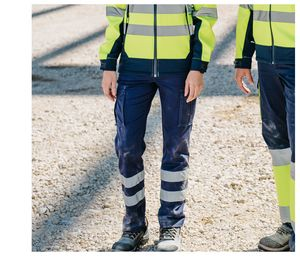 VELILLA V3014S - BROEK STRETCH MULTI-POCKET MET REFLECTERENDE STREPEN