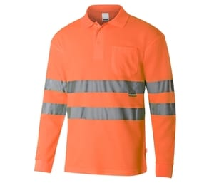 VELILLA V30514 - HIGH-VISIBILITY LONG-SLEEVED POLO SHIRT