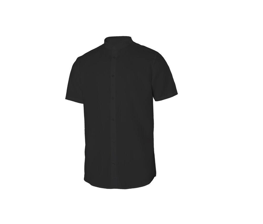 VELILLA V5012S - Men's short-sleeved shirt Mao collar
