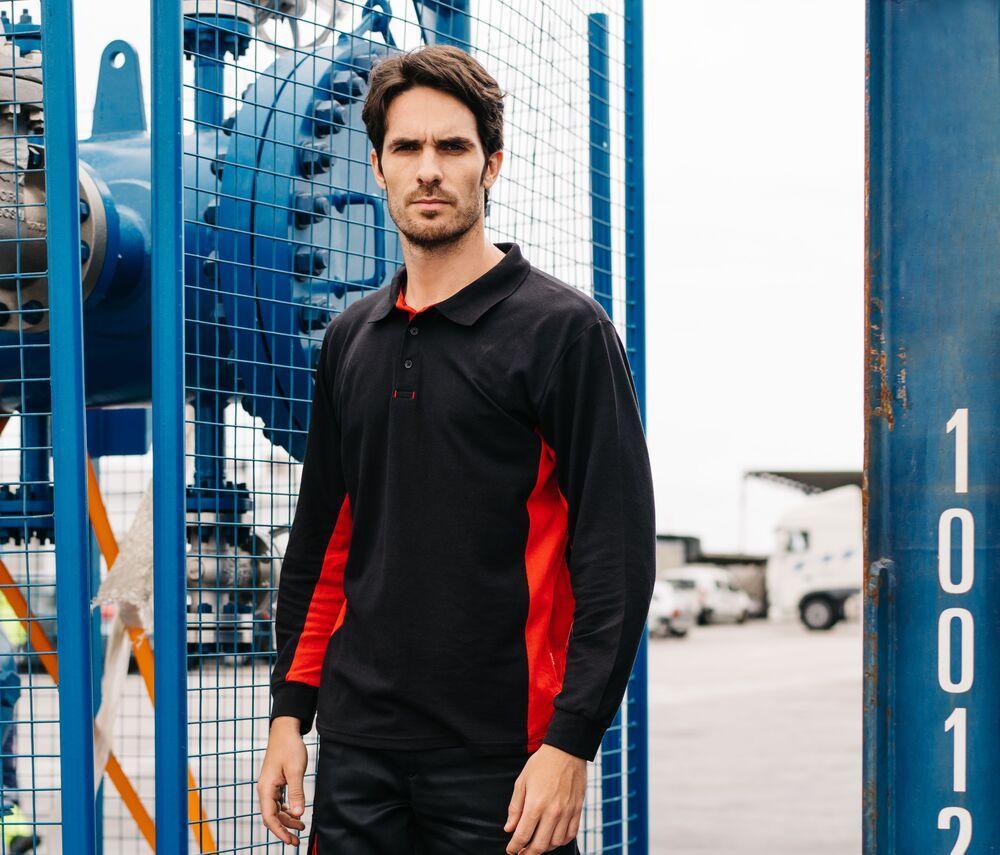 VELILLA V5514 - Two-Tone Polo Shirt Long Sleeves