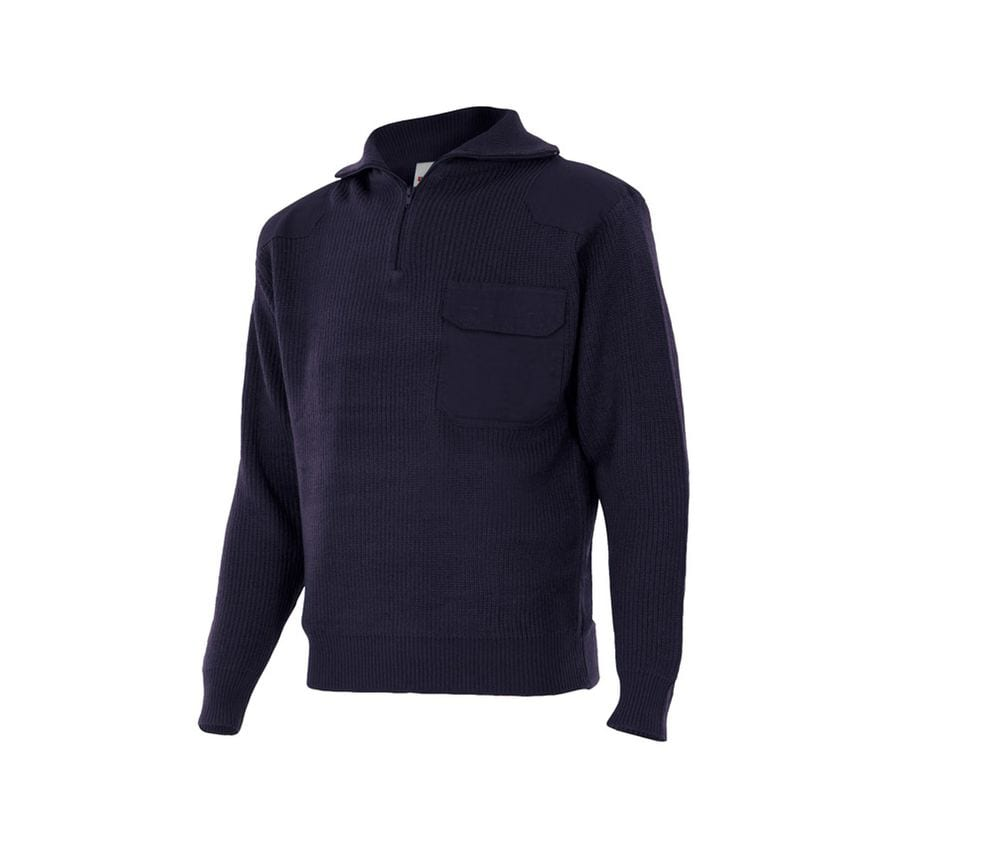 VELILLA VL101 - THICK PULLOVER WITH STAND-UP COLLAR