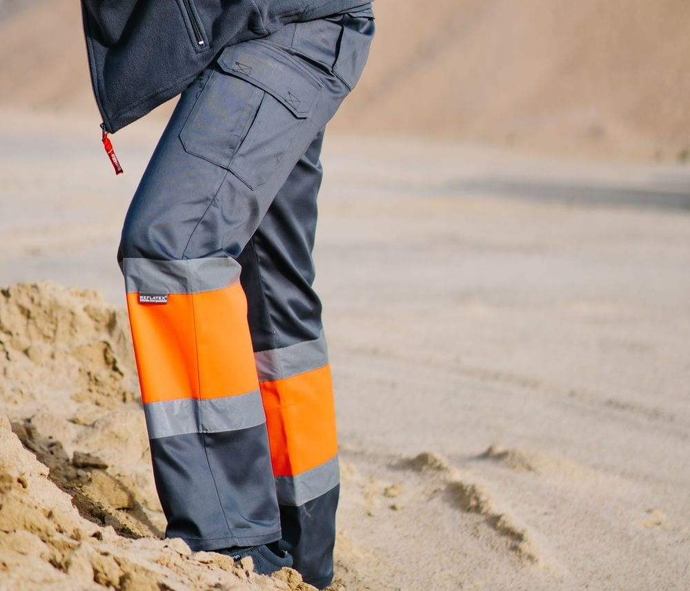 VELILLA VL157 - HIGH-VISIBILITY TWO-TONE PANTS