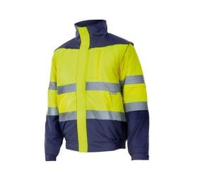 VELILLA VL161 - TWO-TONE HIGH-VISIBILITY QUILTED JACKET
