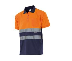 VELILLA VL173 - TWO-TONE SHORT-SLEEVED HIGH-VISIBILITY POLO SHIRT