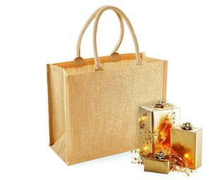 Westford mill WM437 - Glittering jute shopping bag
