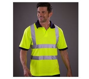 Yoko YK210 - High visibility short-sleeved polo shirt