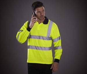 Yoko YK310 - High visibility long sleeves polo shirt