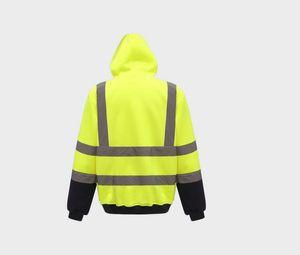 Yoko YKK05 - Reflektierendes Sweatshirt mit Reißverschluss-Kragen