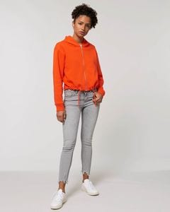 Stanley/Stella STSW133 - The womens cropped zip-thru hoodie sweatshirt
