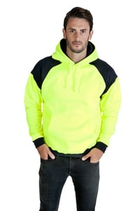 Ramo F303HPW - Men Shoulder Contrast Panel Hoodie - WORKWEAR
