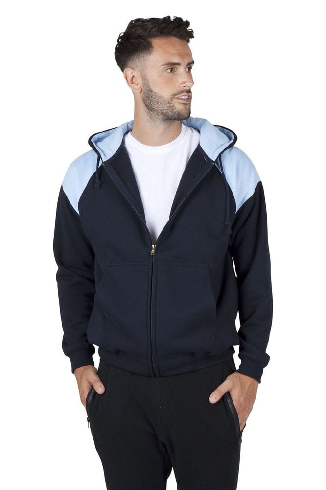 Ramo F303HZ - Mens Shoulder Contrast Zip Hoodie